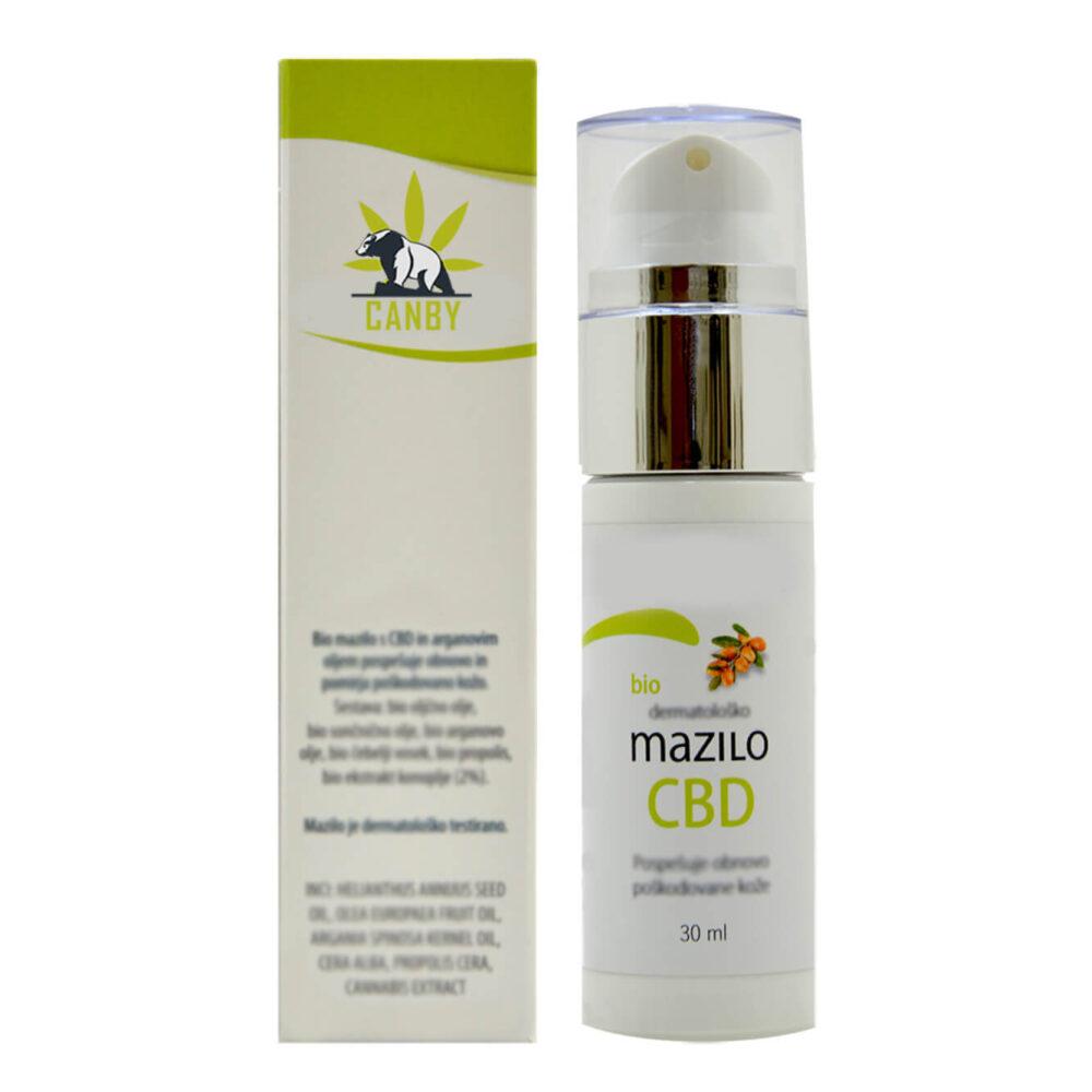 CBD Konopljina Bio Kozmetika dermatolosko mazilo back G